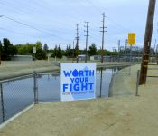 """Though there's no truth to the rumor people have been painting it brown, the water drop on the """"Worth your Fight"""" sign produced by the Turlock and Modesto Irrigation Districts […]"""