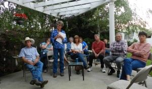 Gail Altieri (standing) With Valley Citizens, April 22, 2015