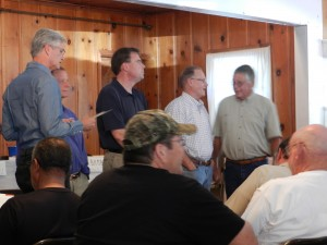 Ryon Paton, Steve Knell, Bill O'Brien, Walter Ward, walnut grower Terry Prichard