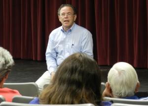 Mayor Marsh at Town Hall Meeting