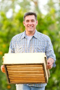 Farmer and beekeeper Michael Eggman