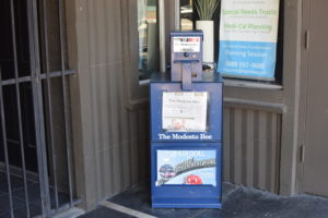 Modesto Bee newspaper vend machine