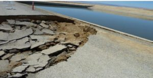 Subsidence along the California Aqueduct