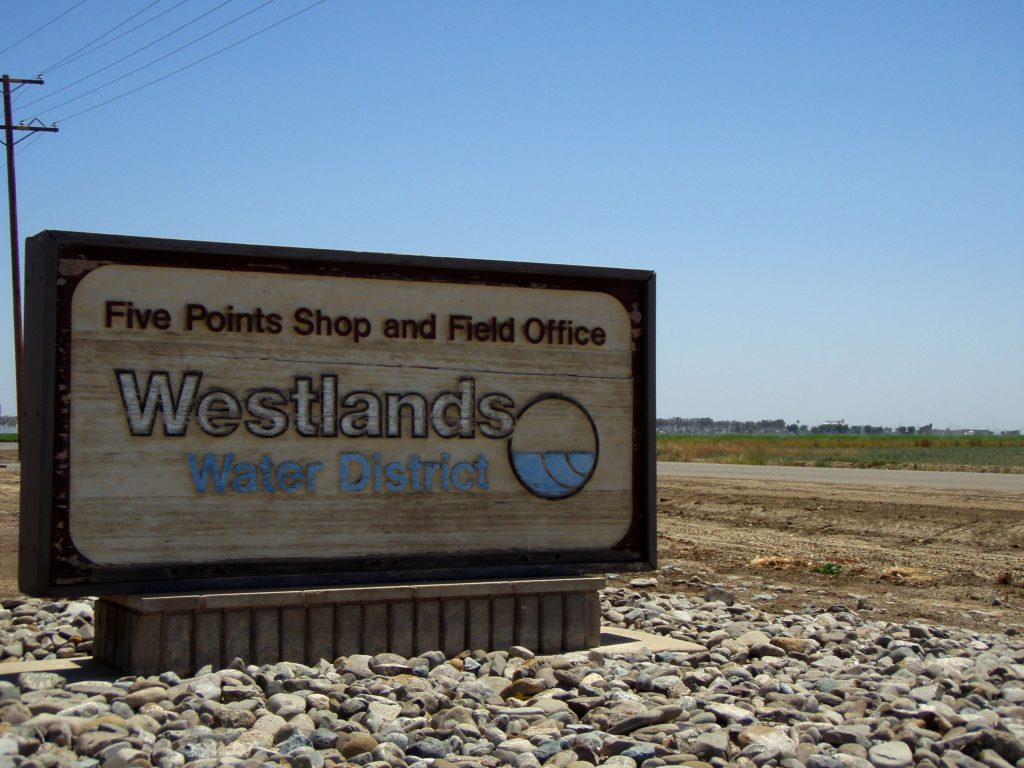 Sign: Five Points Shop and Field Office, Westland Water District