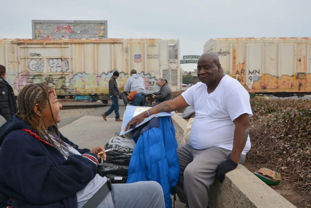 Group of homeless