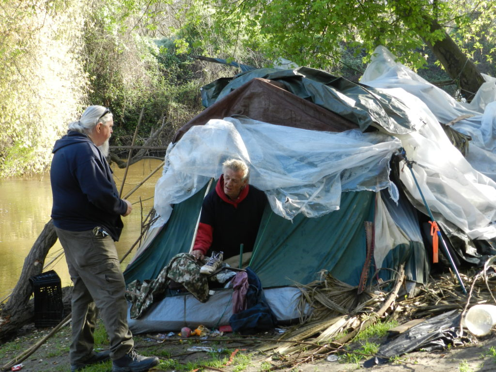Camp along Stanislaus River