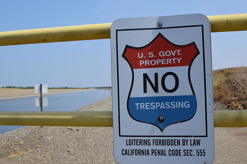 Sign:  U.S. Govt. Property.  No Trespassing.