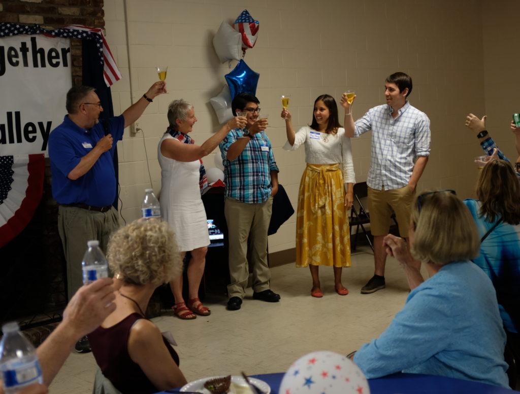 Community members celebrate