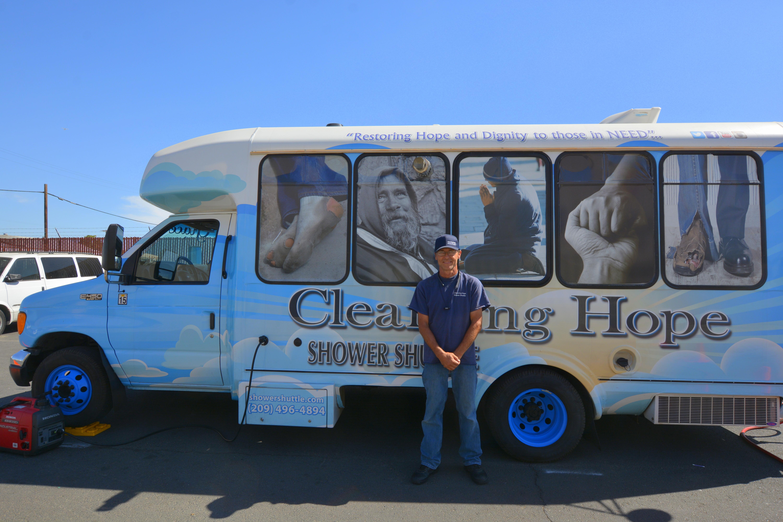 Cleansing Hope Shower Shuttle van