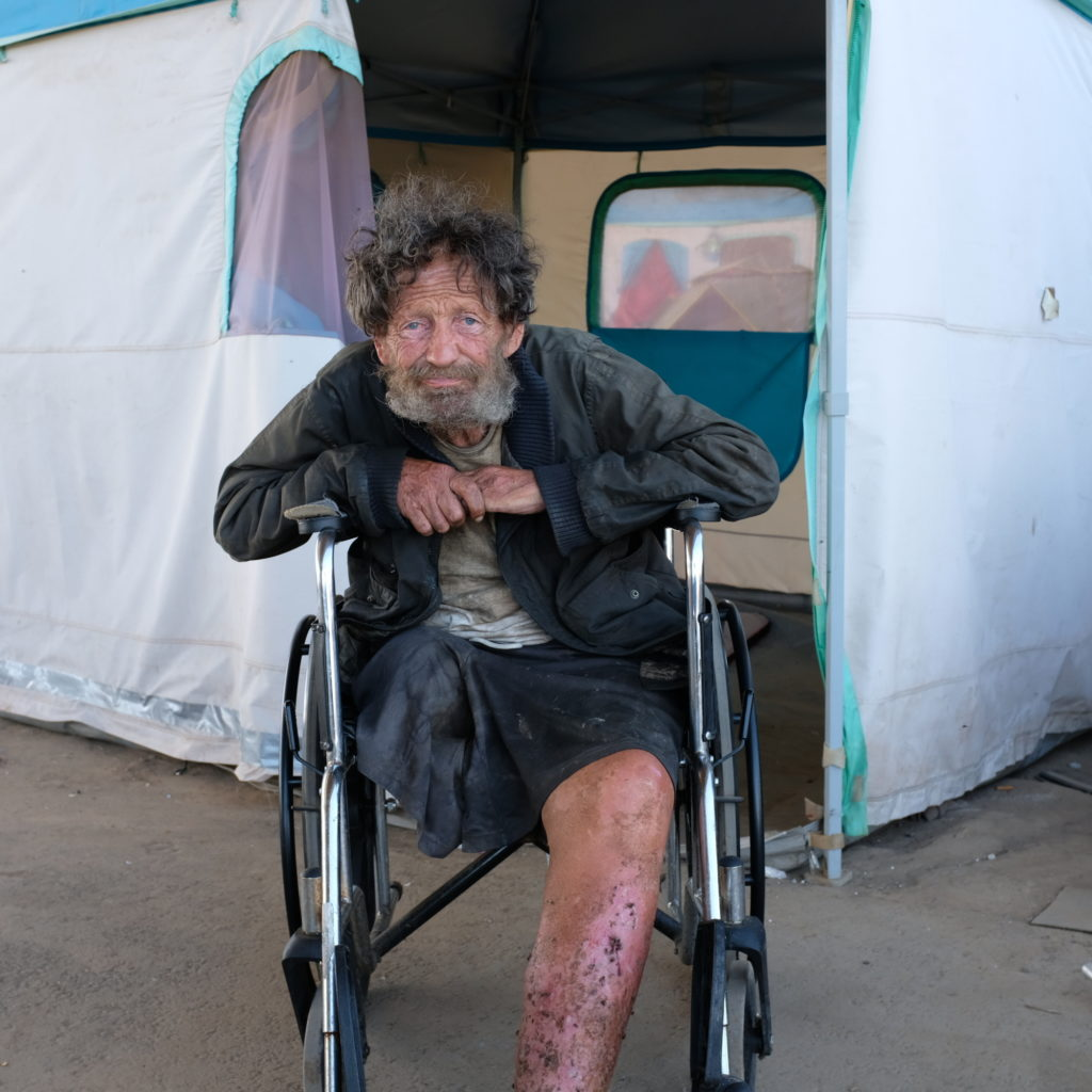 Alan Davis' tent home