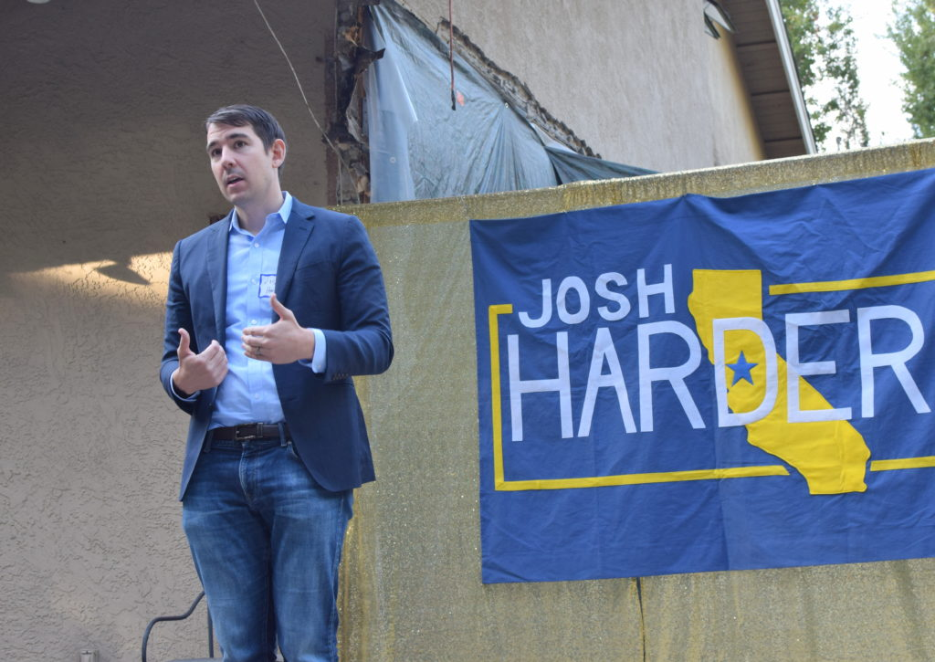 Josh Harder speaking