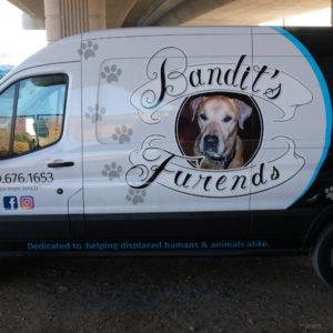 """Van with """"Bandit's Furends"""" insignia"""