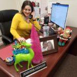 Hidalgo at desk
