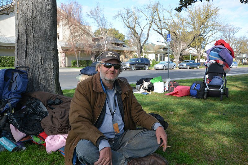 """Eric"" homeless, Graceada Park Modesto 1/28/20"