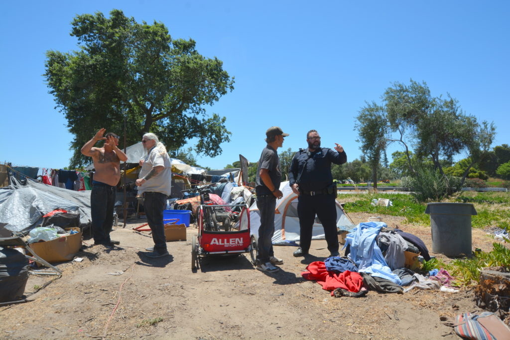 MPD Sargent Mike Hammond homeless camp Modesto