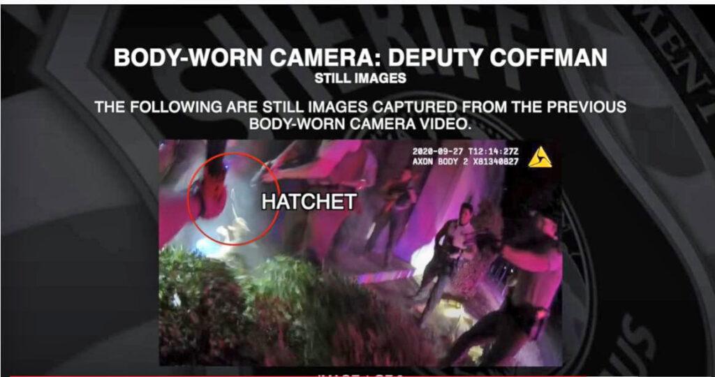 Body-worn camera image in Eloy Gonzalez case