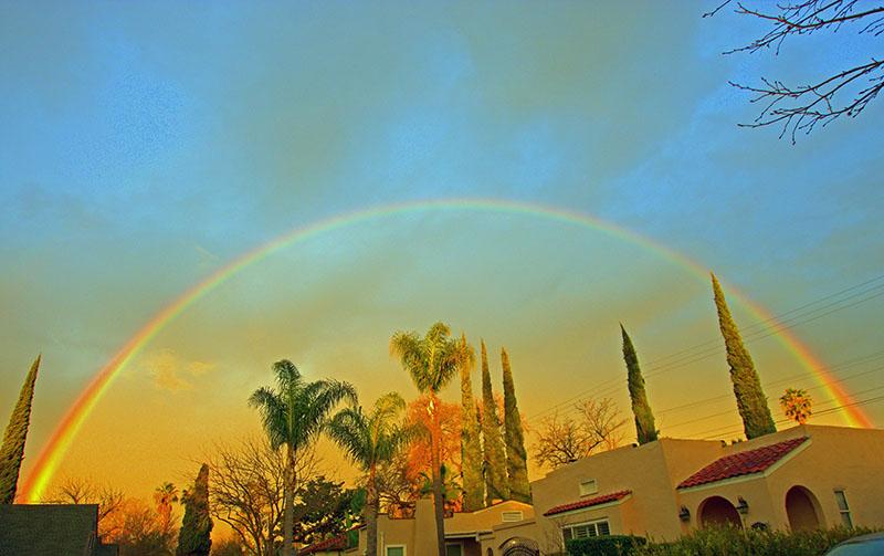 Modesto rainbow Feb 2, 2021